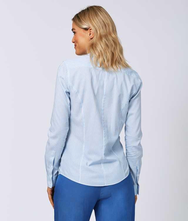 Emma Stripe Blå The Shirt Factory