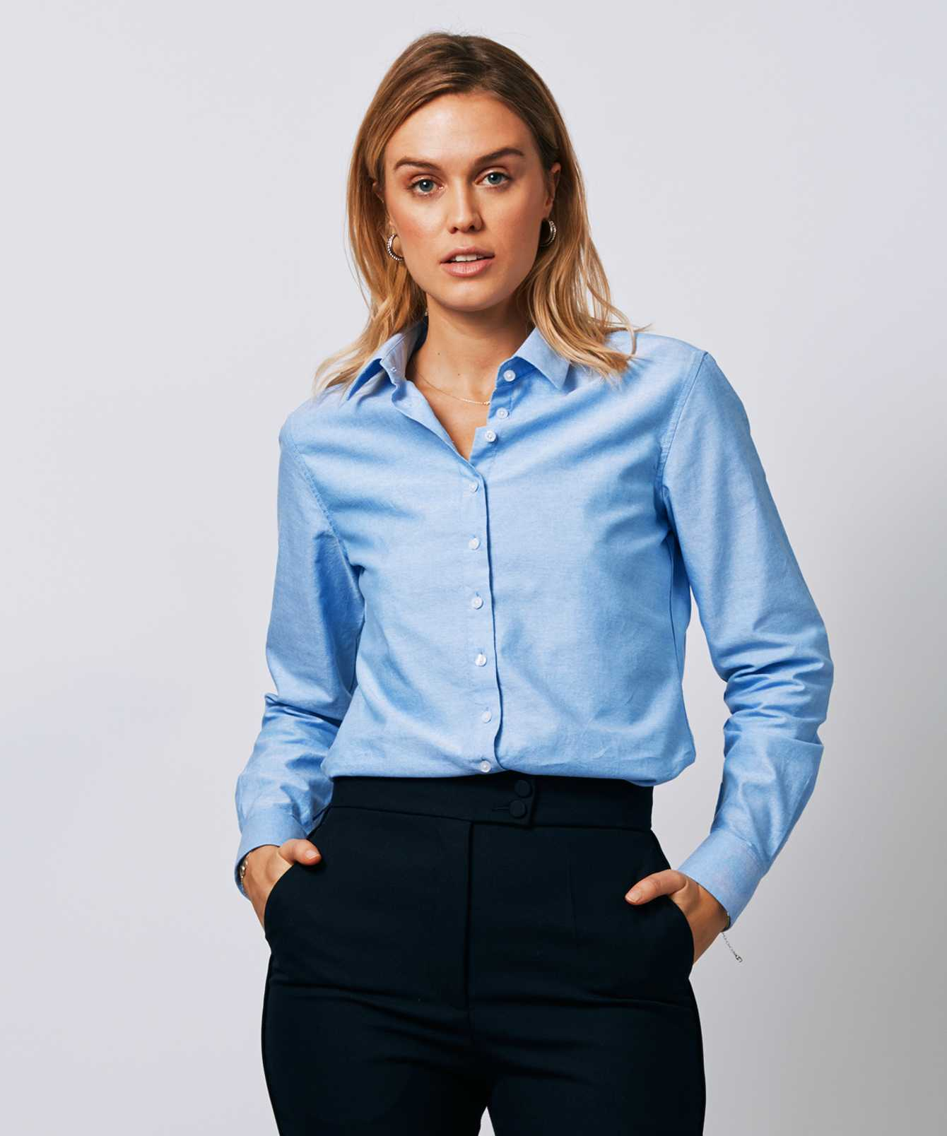 Shirt Tilde Hampton Oxford Blue The Shirt Factory