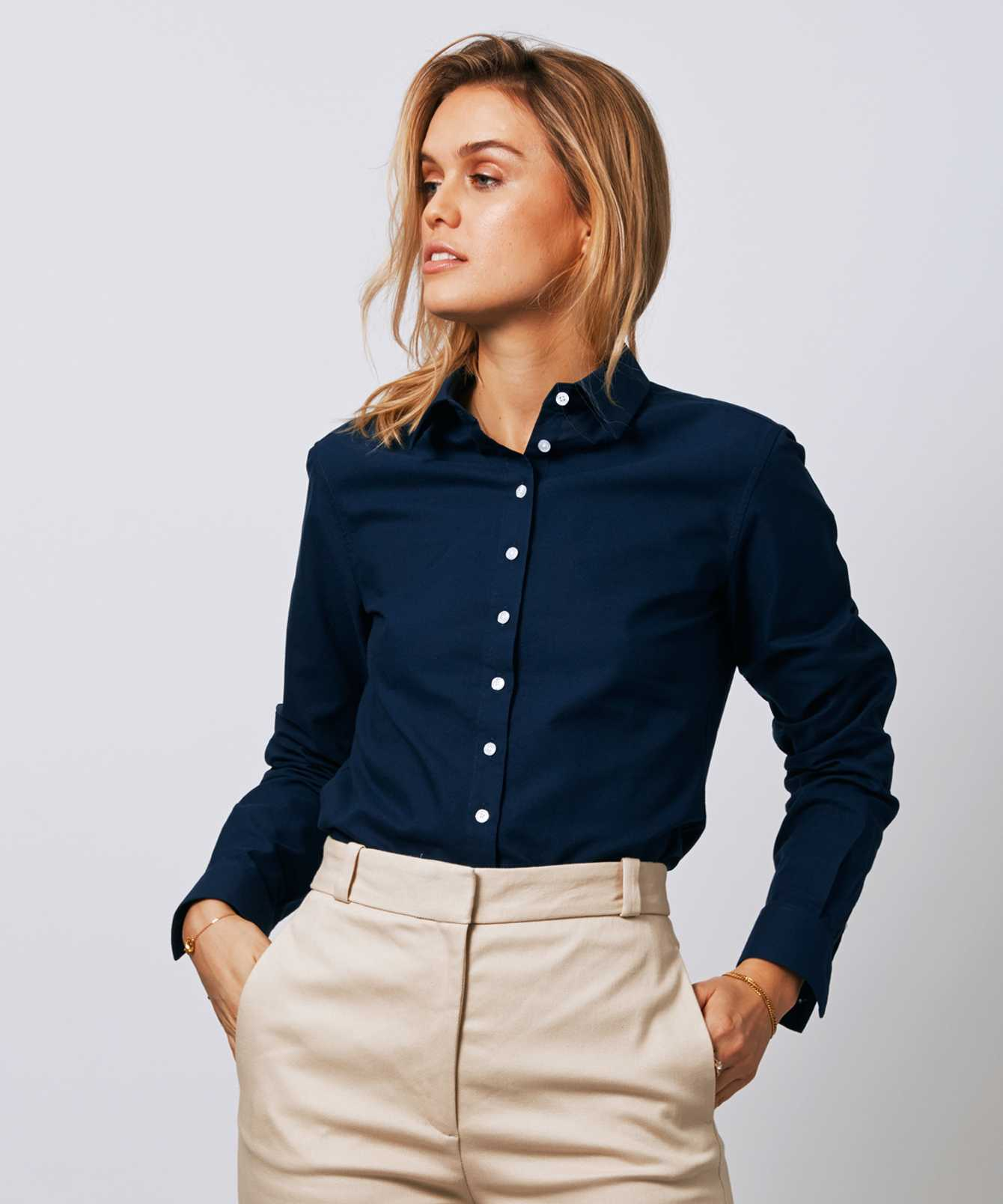 Shirt Tilde Hampton Oxford Navy The Shirt Factory