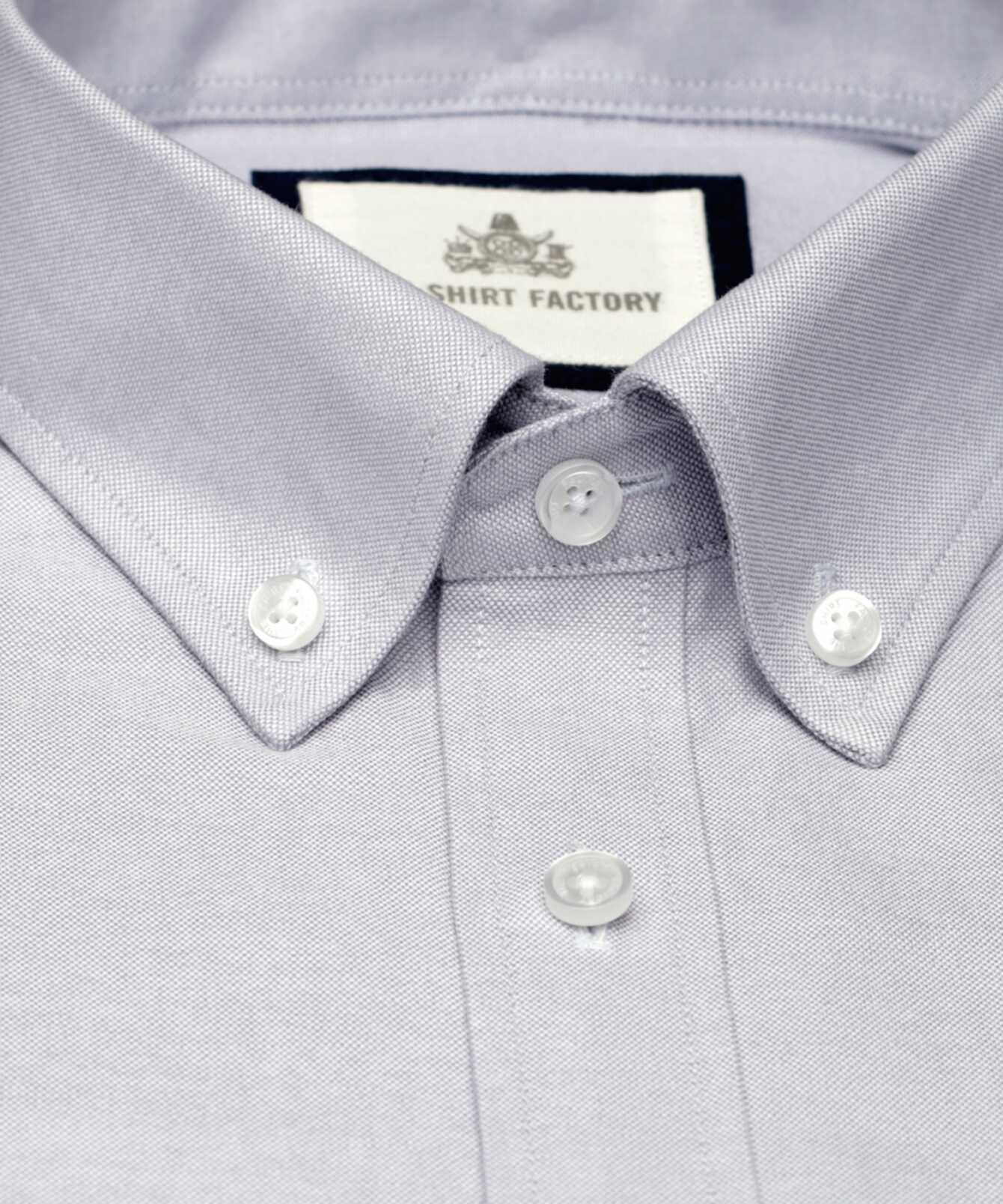 Skjorta Hampton Oxford Ljusgrå The Shirt Factory