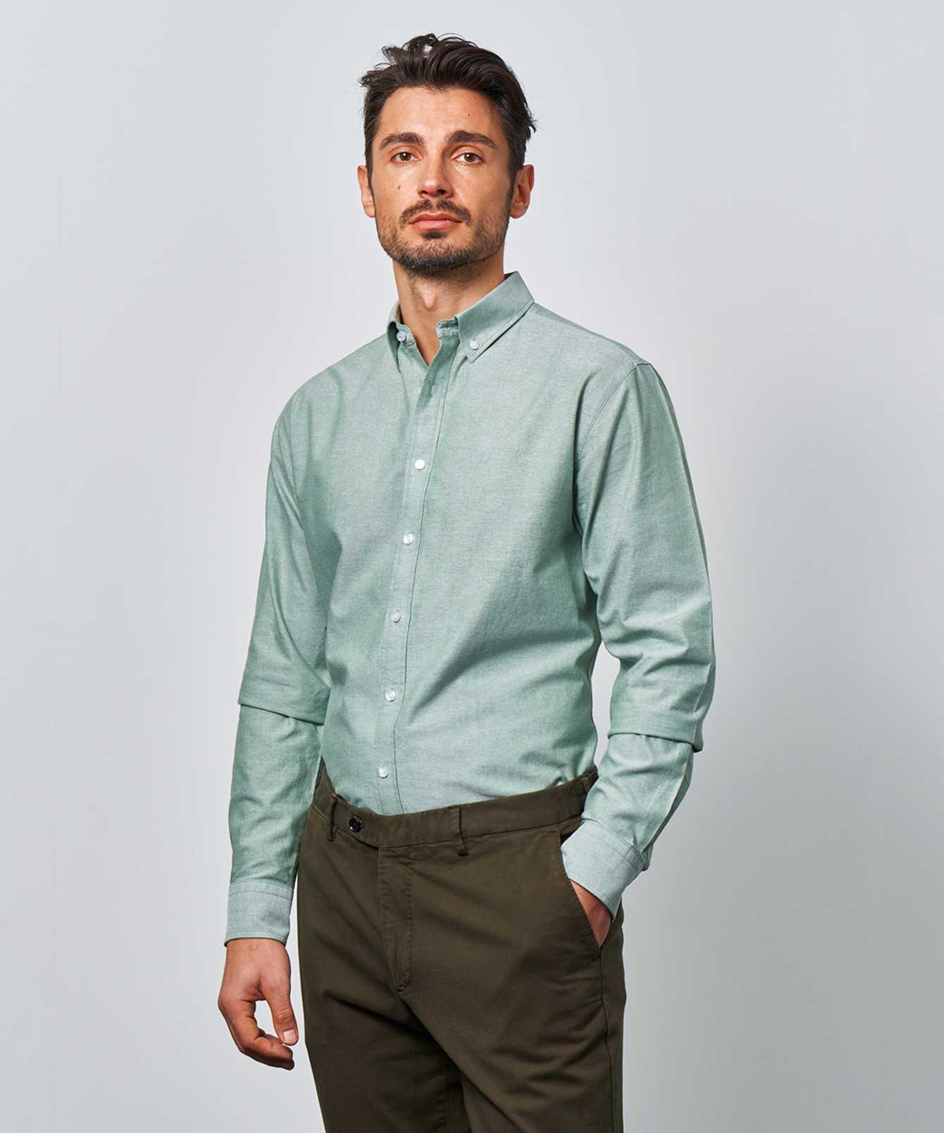 Shirt Hampton Oxford Green The Shirt Factory