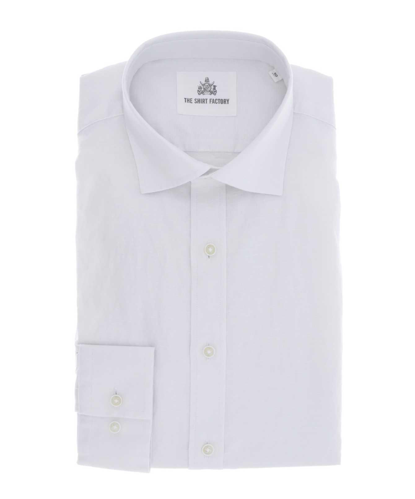 Shirt Portofino Linne Vit  The Shirt Factory