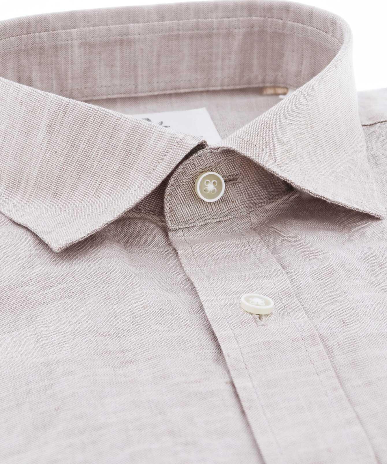 Shirt Portofino Linne Beige The Shirt Factory