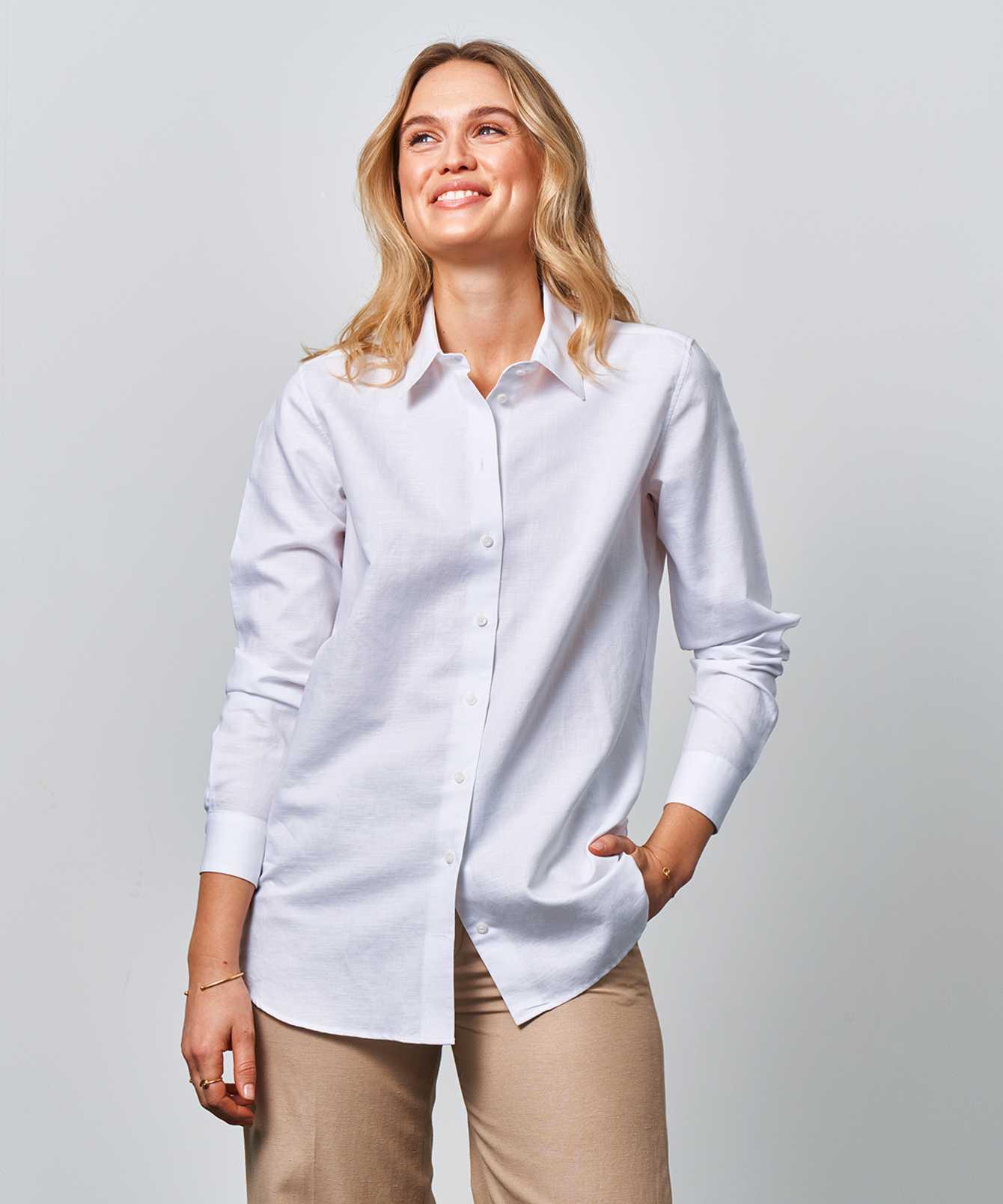Skjorta Mickan Portofino Vit  The Shirt Factory