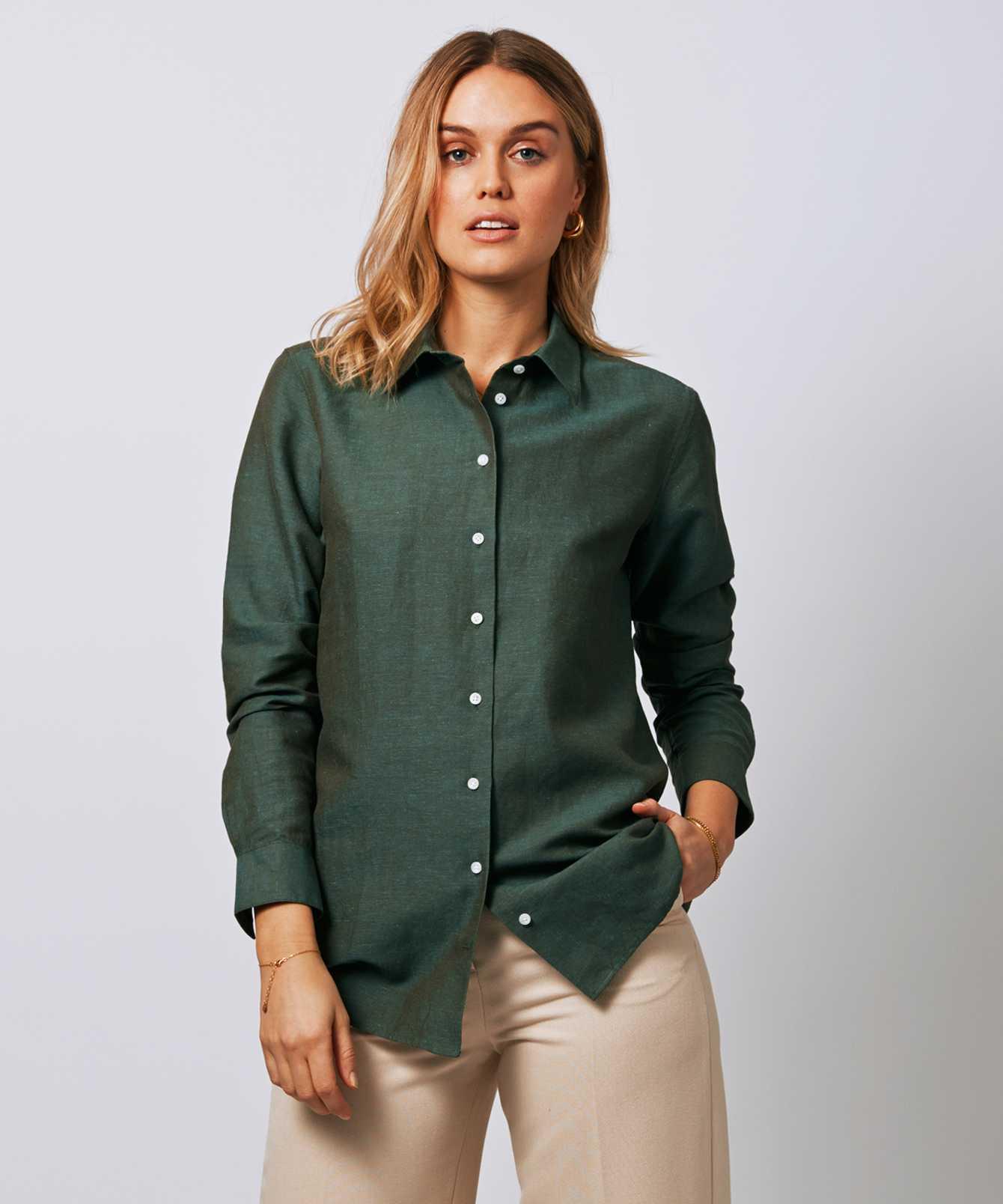 Skjorta Mickan Portofino Grön The Shirt Factory