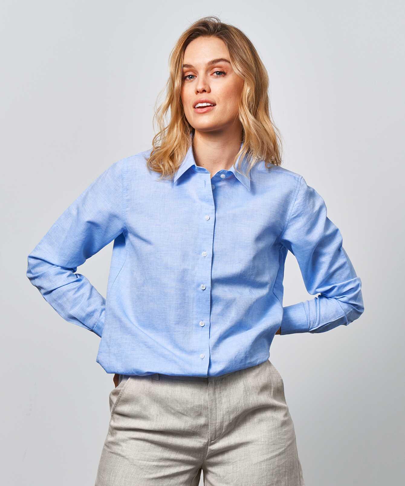 Skjorta Mickan Portofino Ljusblå The Shirt Factory