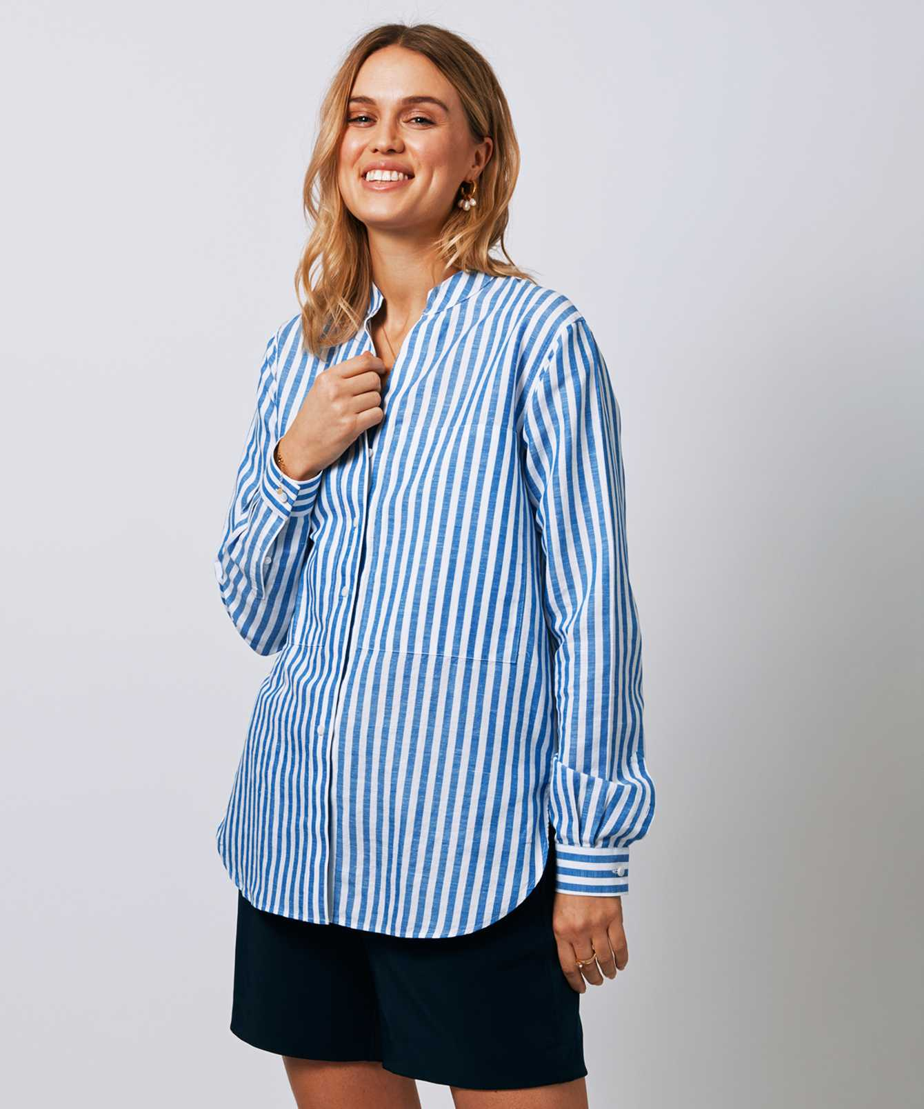 Shirt Tuva Linen Stripe  The Shirt Factory