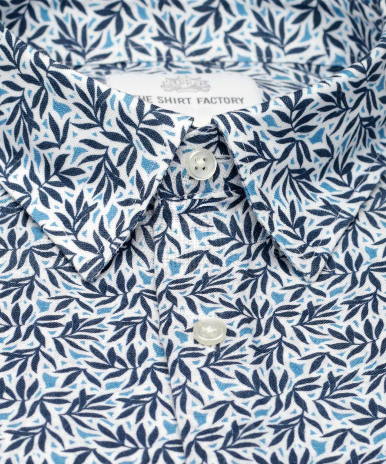 Shirt Venezia Linne Blå The Shirt Factory