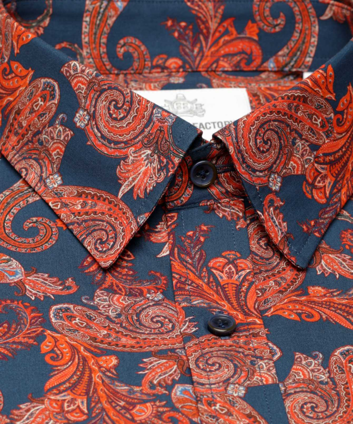Skjorta Mahogny Paisley The Shirt Factory