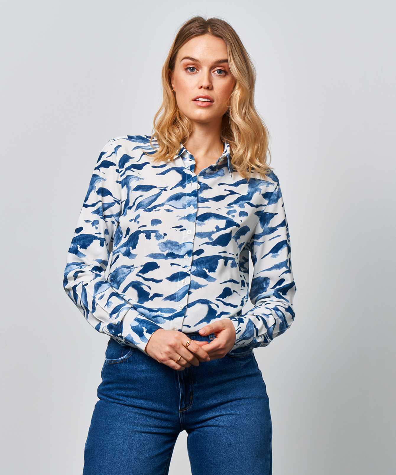 Skjorta Tilde Ocean The Shirt Factory