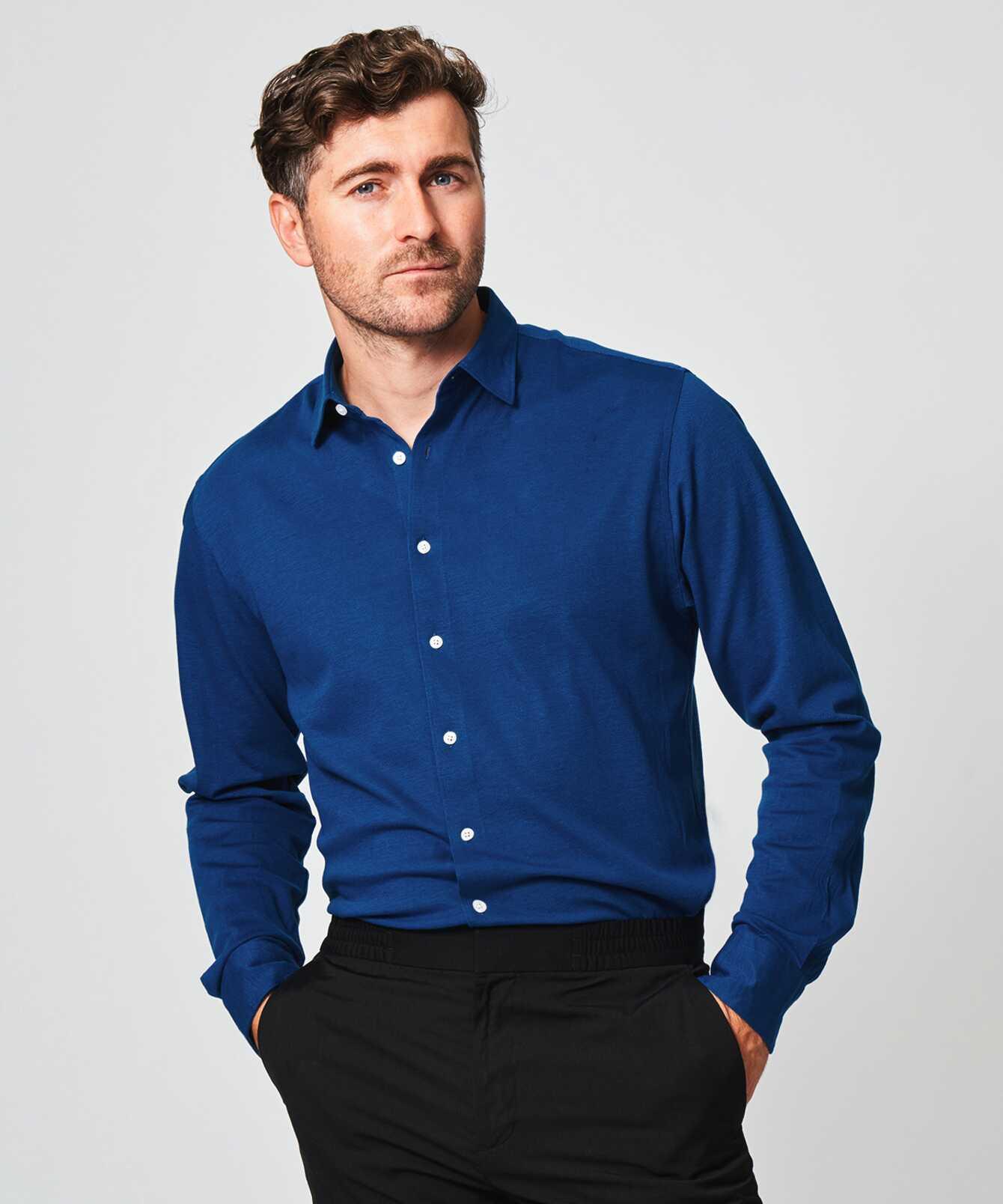 Skjorta Royal Troon Pike Blå The Shirt Factory