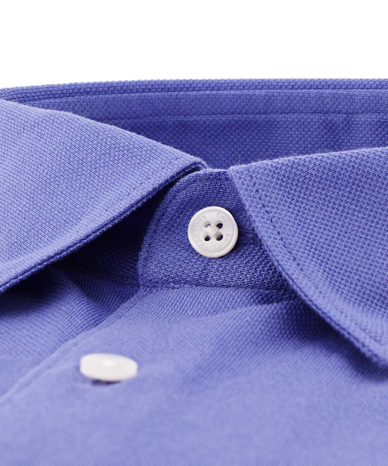 Shirt Royal Troon Pique Lilac The Shirt Factory