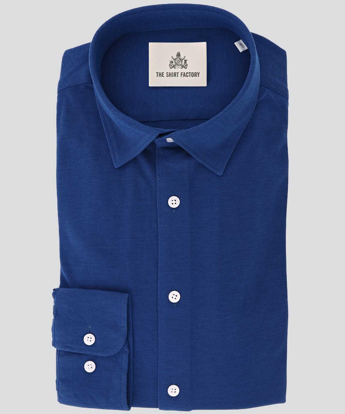 Shirt Royal Troon Pique Blue The Shirt Factory