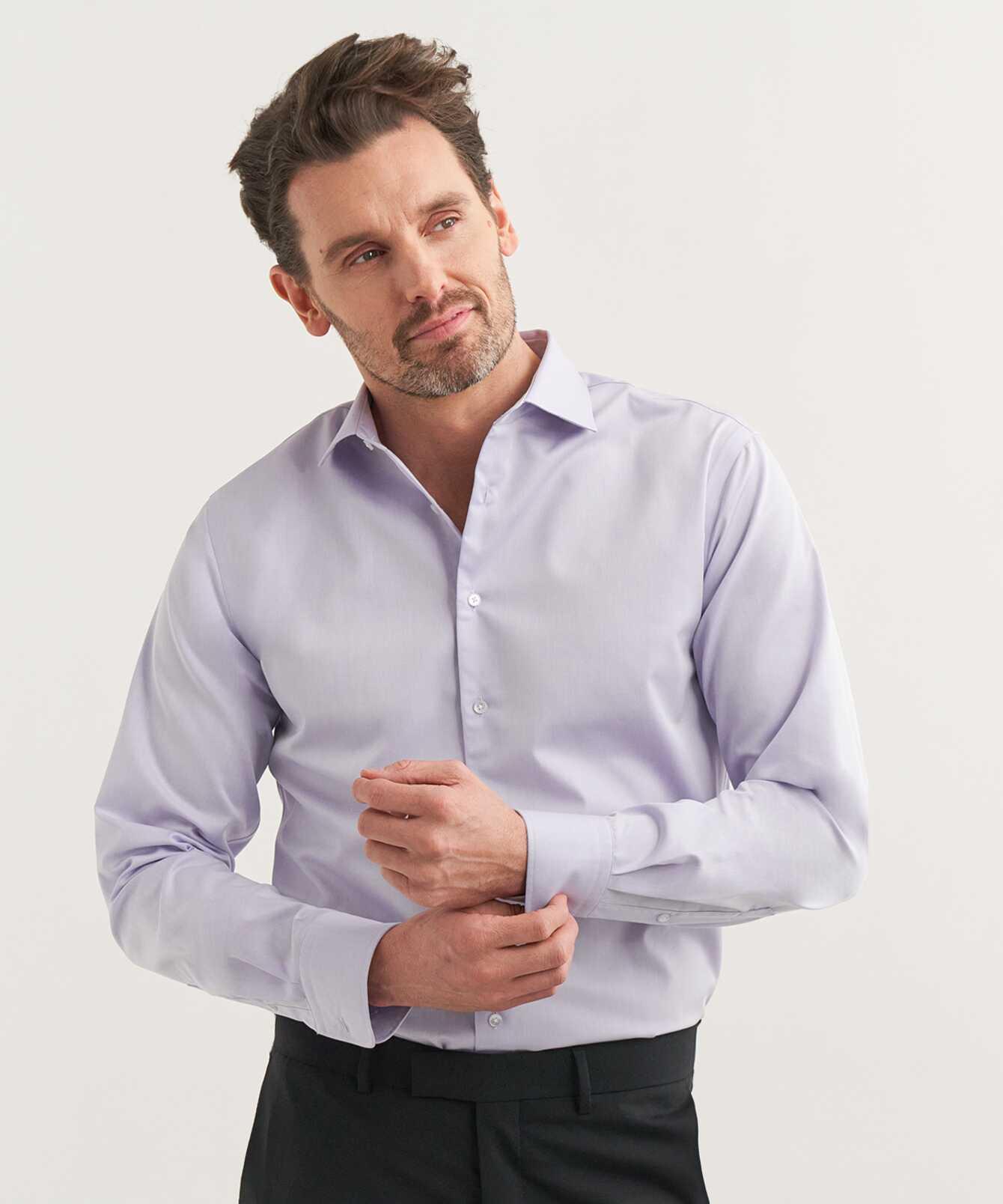 Shirt Grand Twill Lilac The Shirt Factory