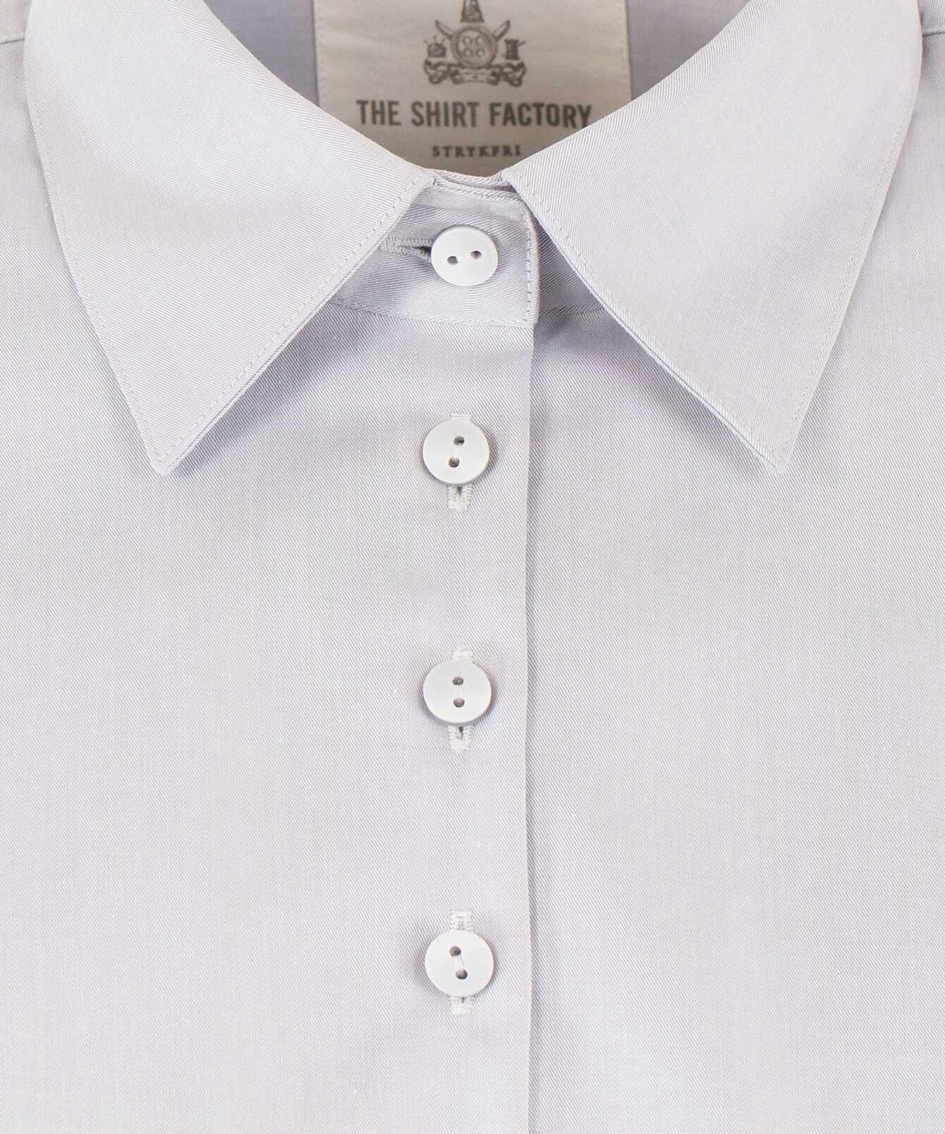 Skjorta Moa Grand Twill Strykfri Ljusgrå The Shirt Factory
