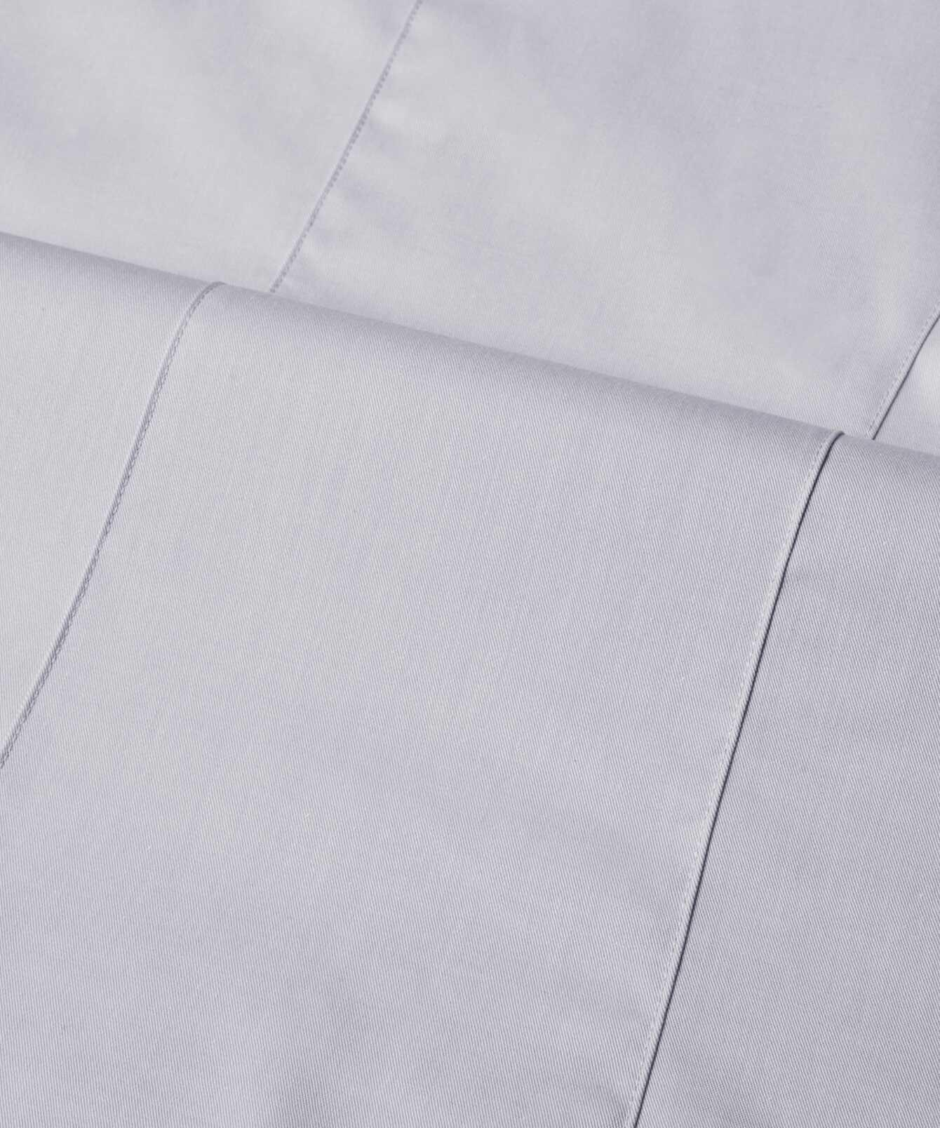 Shirt Moa Grand Twill Light Grey  The Shirt Factory
