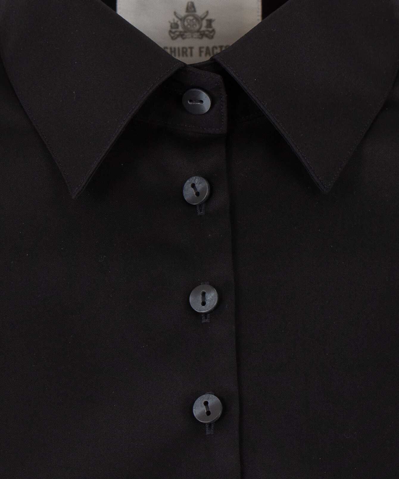 Skjorta Moa Grand Twill Strykfri Svart The Shirt Factory