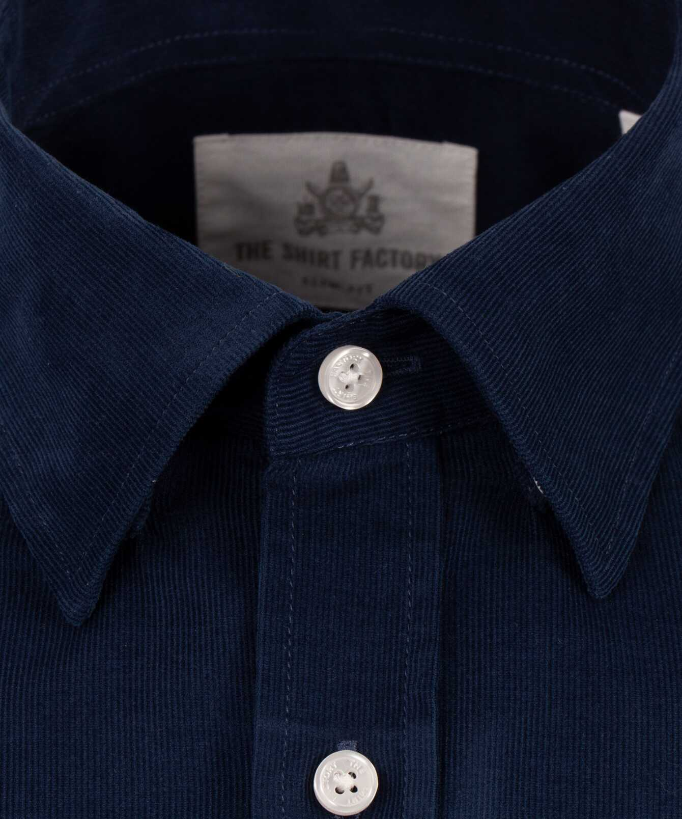Skjorta Toronto Cord Djupblå The Shirt Factory