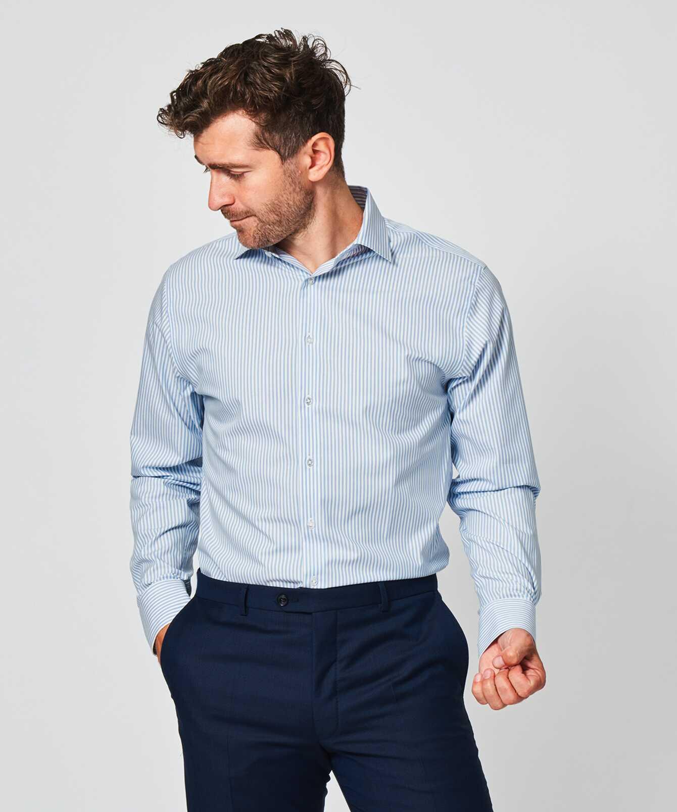 Skjorta Stripe Lättstruken The Shirt Factory