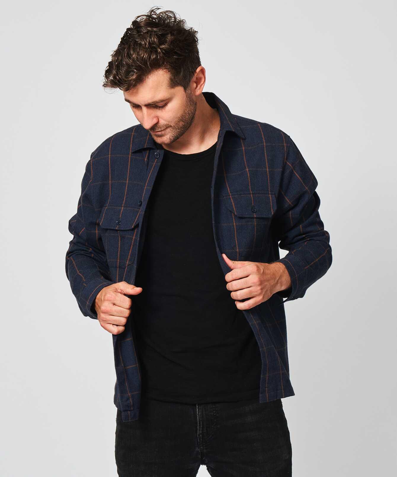Skjorta Check Overshirt The Shirt Factory