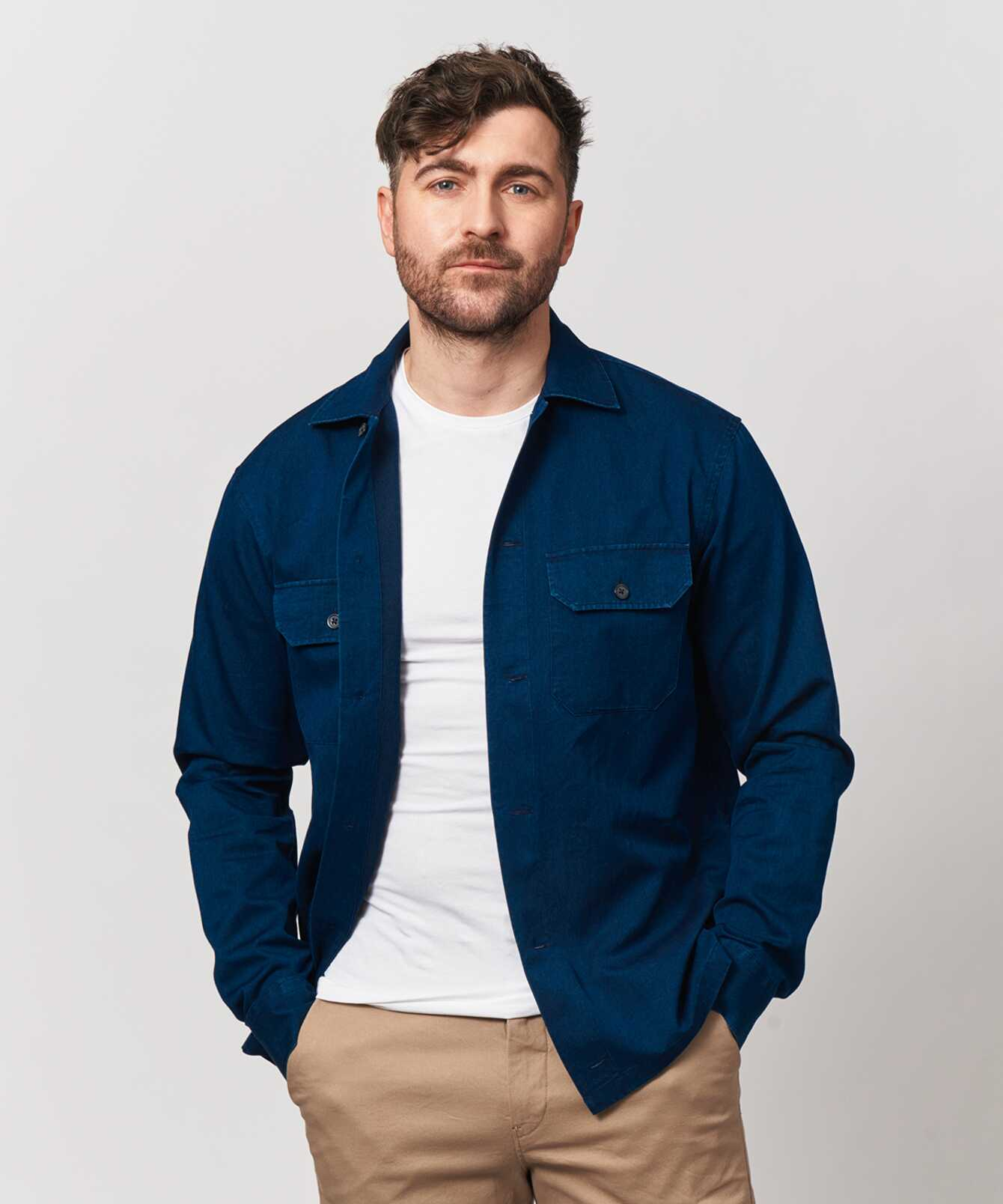 Skjorta Indigo Overshirt The Shirt Factory