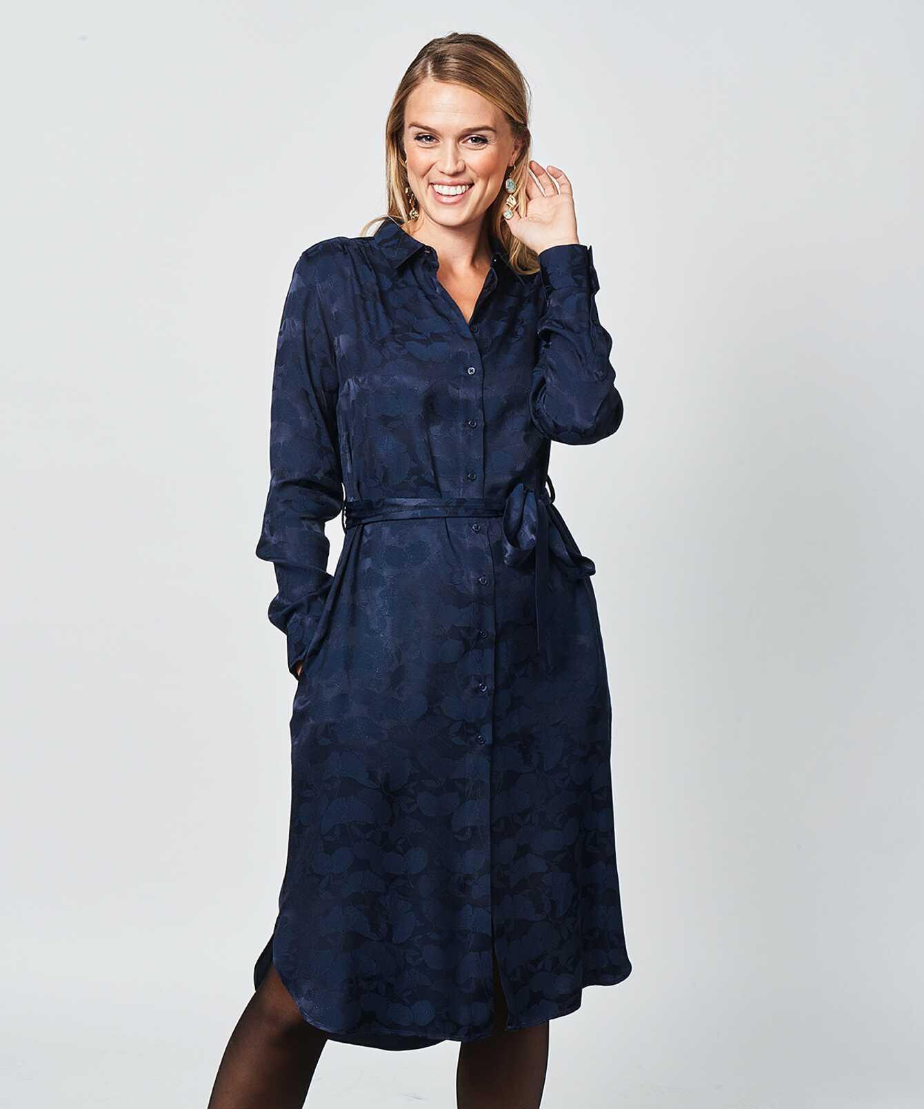 Skjorta Ida Jacquard The Shirt Factory