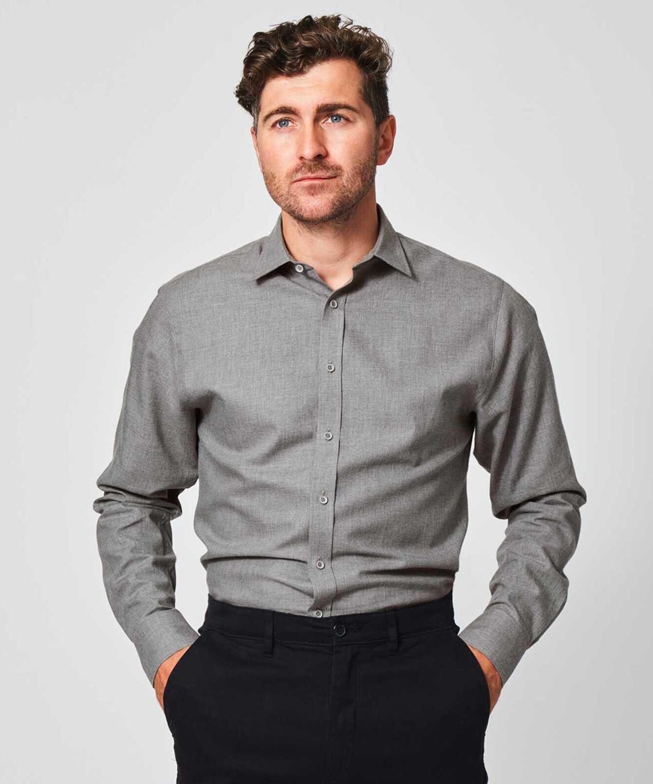 Shirt Costello light grey The Shirt Factory