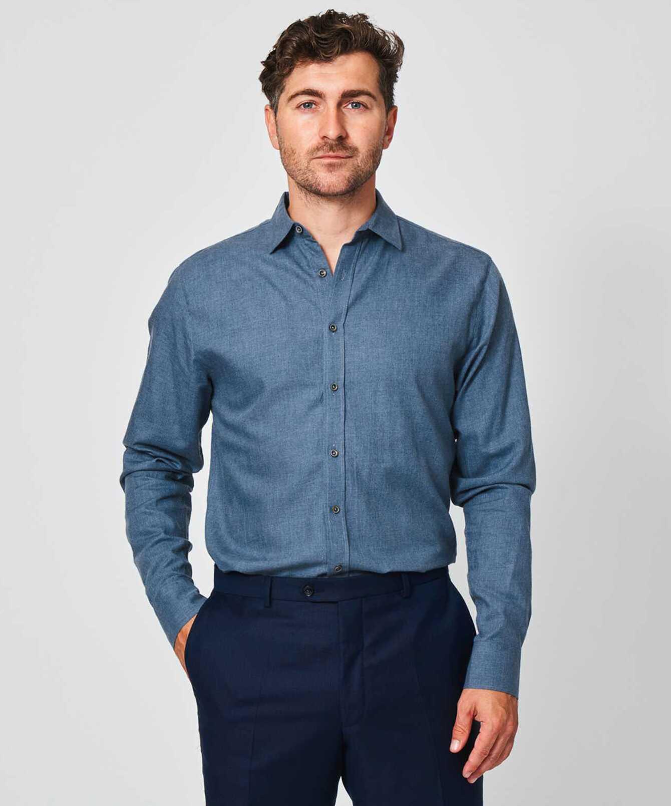 Skjorta Costello Ljusblå The Shirt Factory