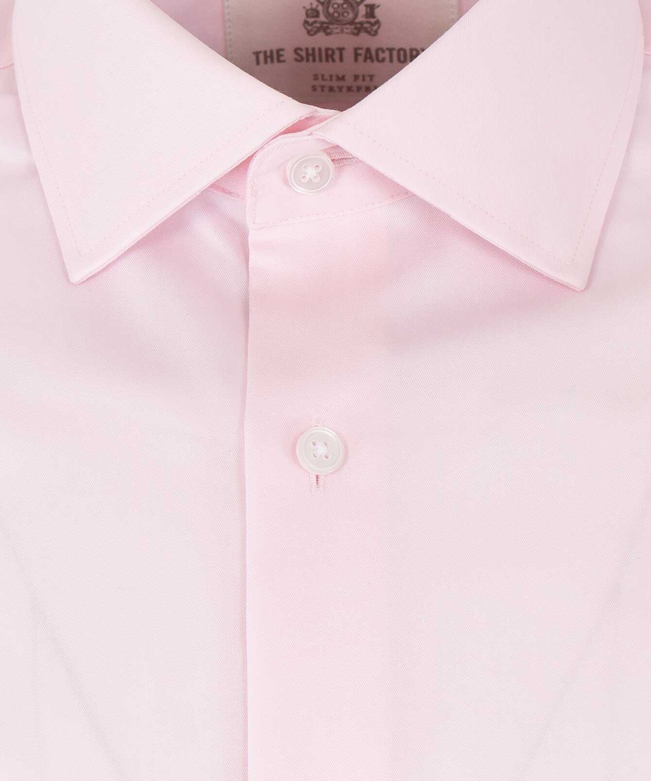 Shirt Grand Twill Strykfri Rosa The Shirt Factory