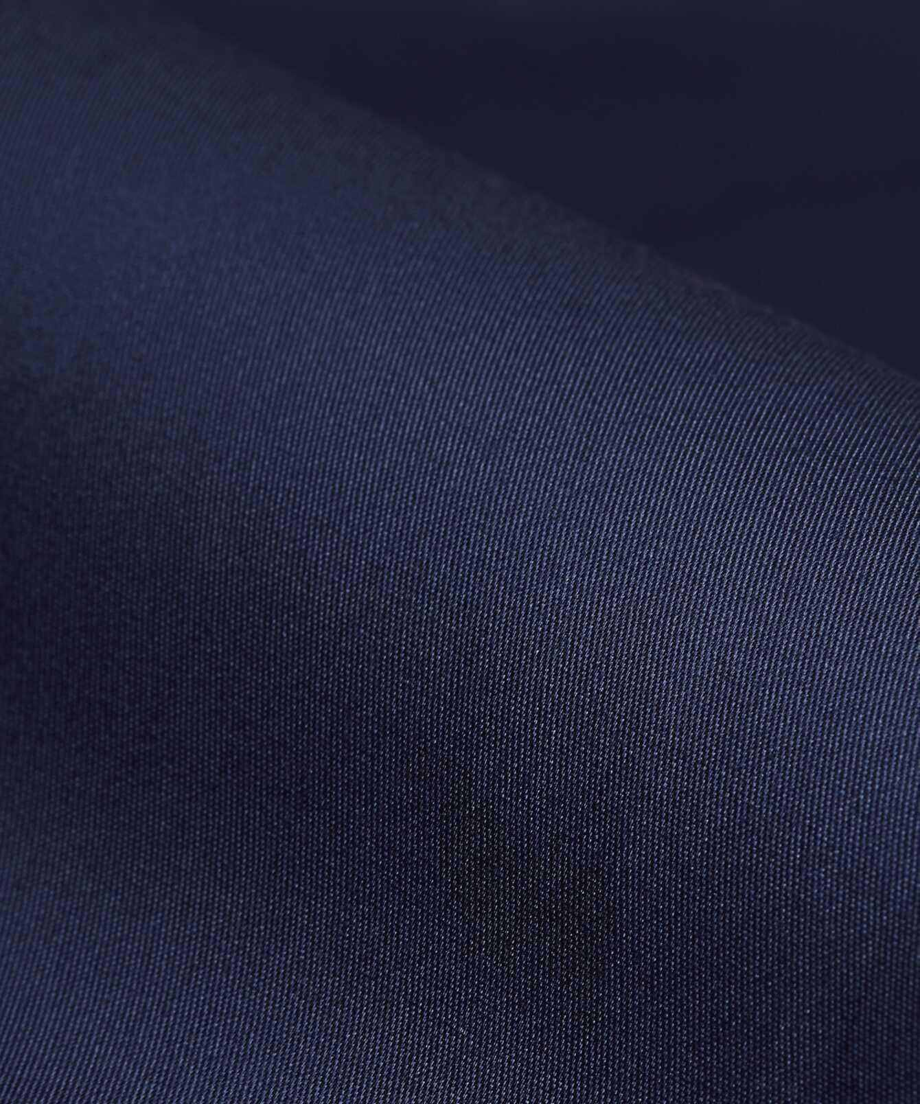 Skjorta Grand Twill Strykfri Mörkblå Extra Lång Ärm The Shirt Factory