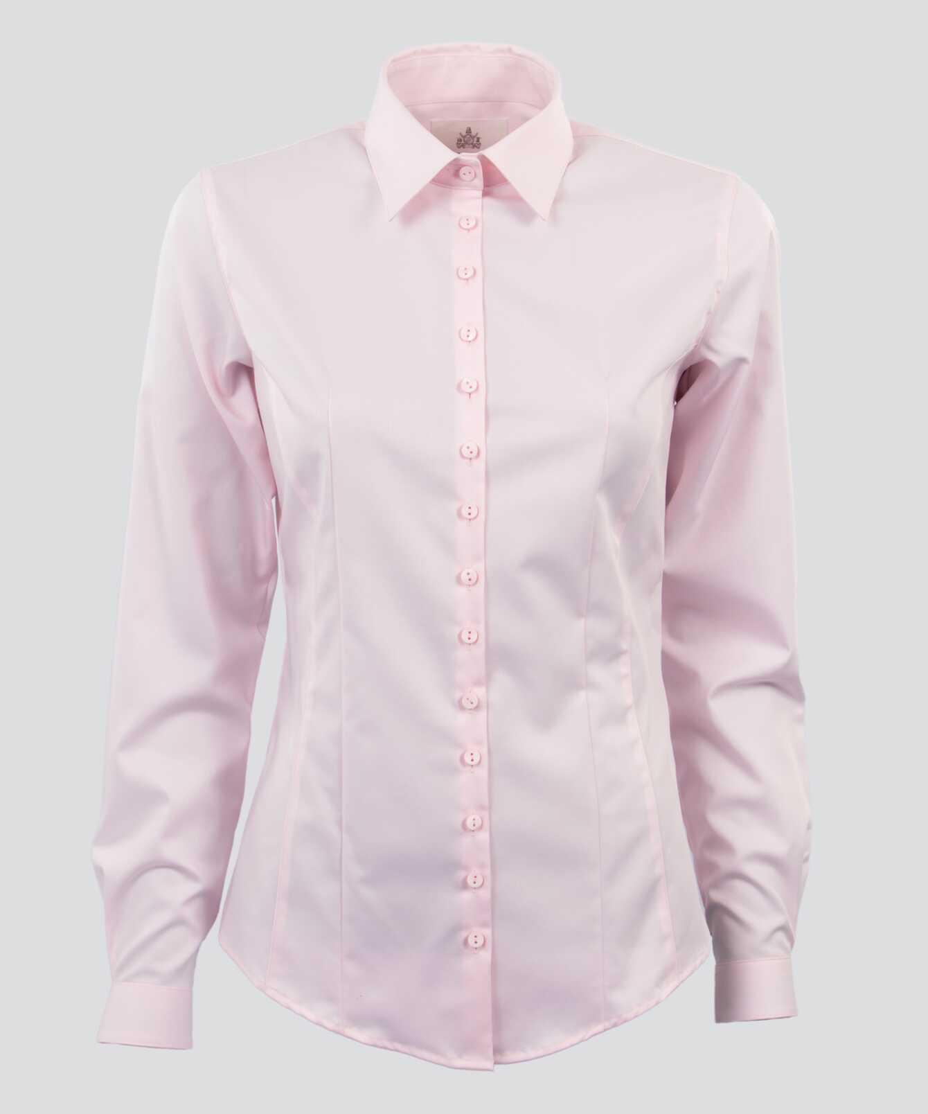 Skjorta Moa Grand Twill Strykfri Rosa The Shirt Factory