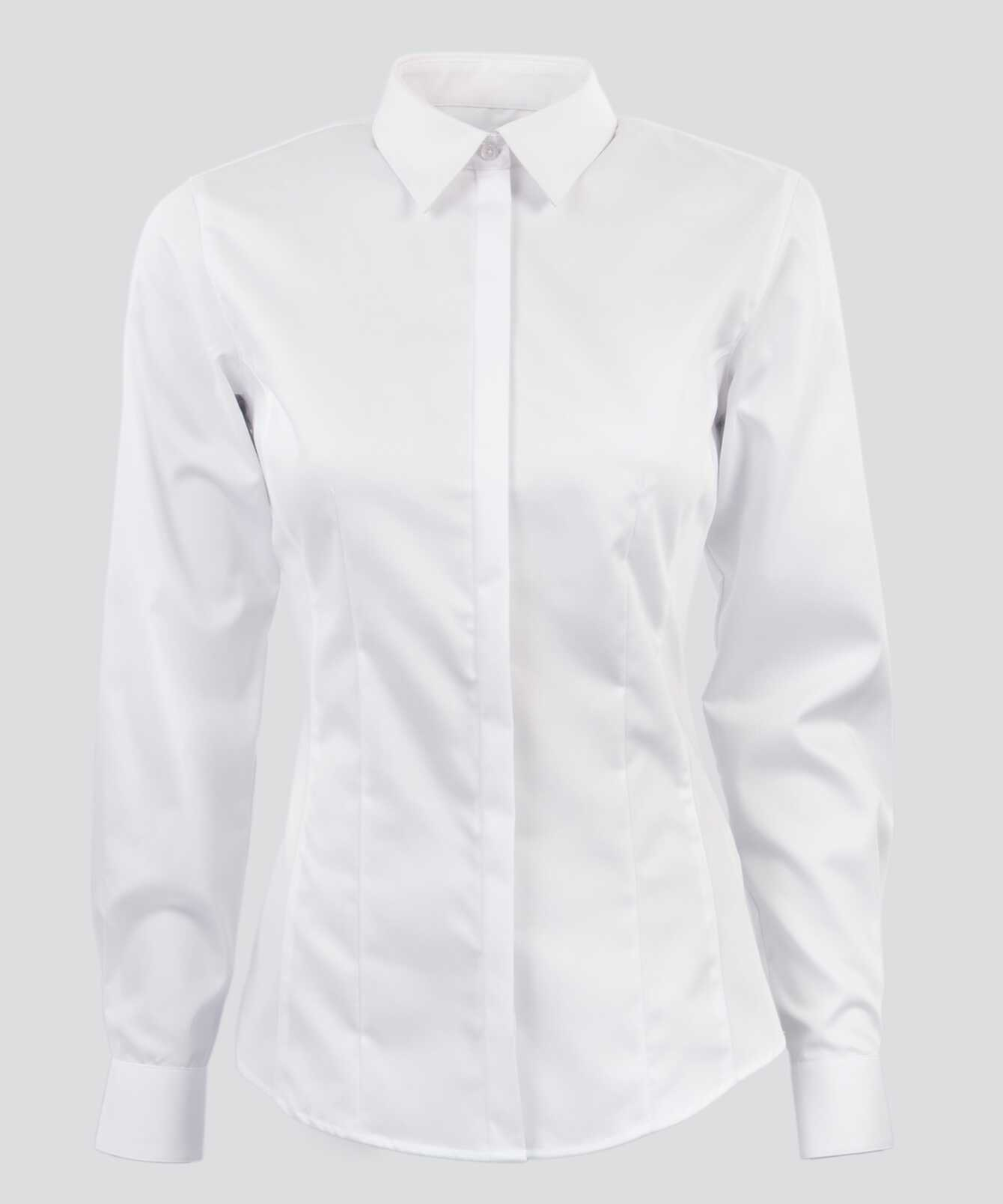 Shirt Emma Grand Twill Vit  The Shirt Factory
