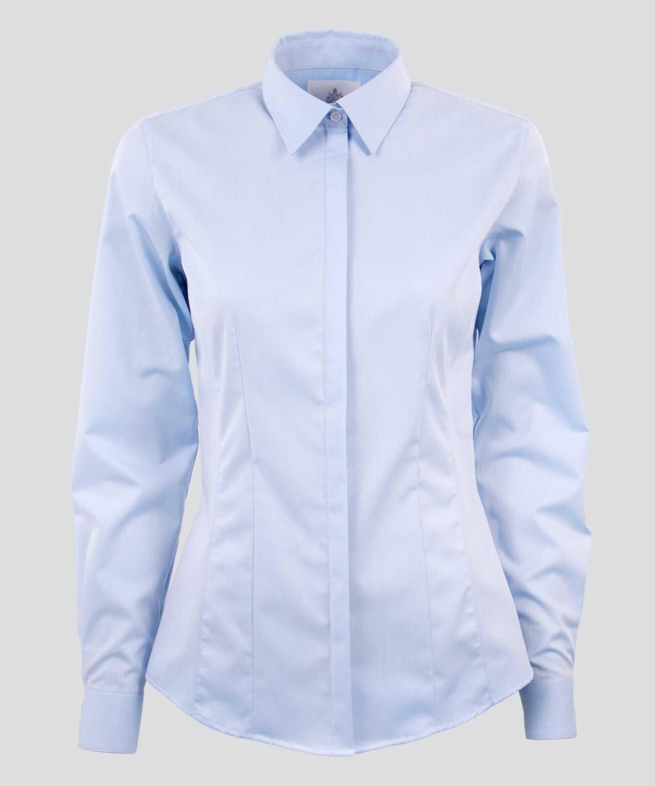 Skjorta Emma Grand Twill Ljusblå The Shirt Factory