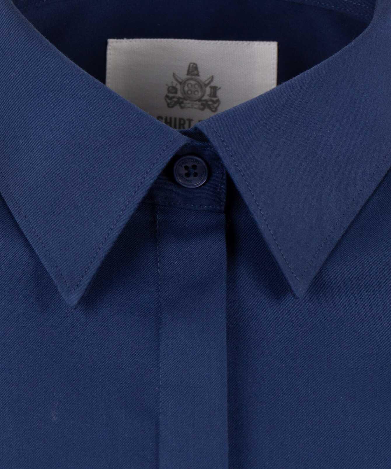 Shirt Emma Grand Twill Navy The Shirt Factory