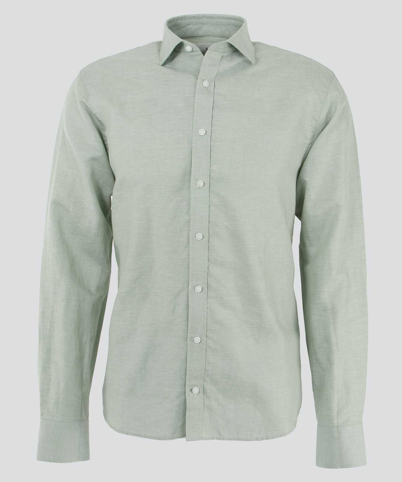 Shirt Portofino Linen Pistage The Shirt Factory