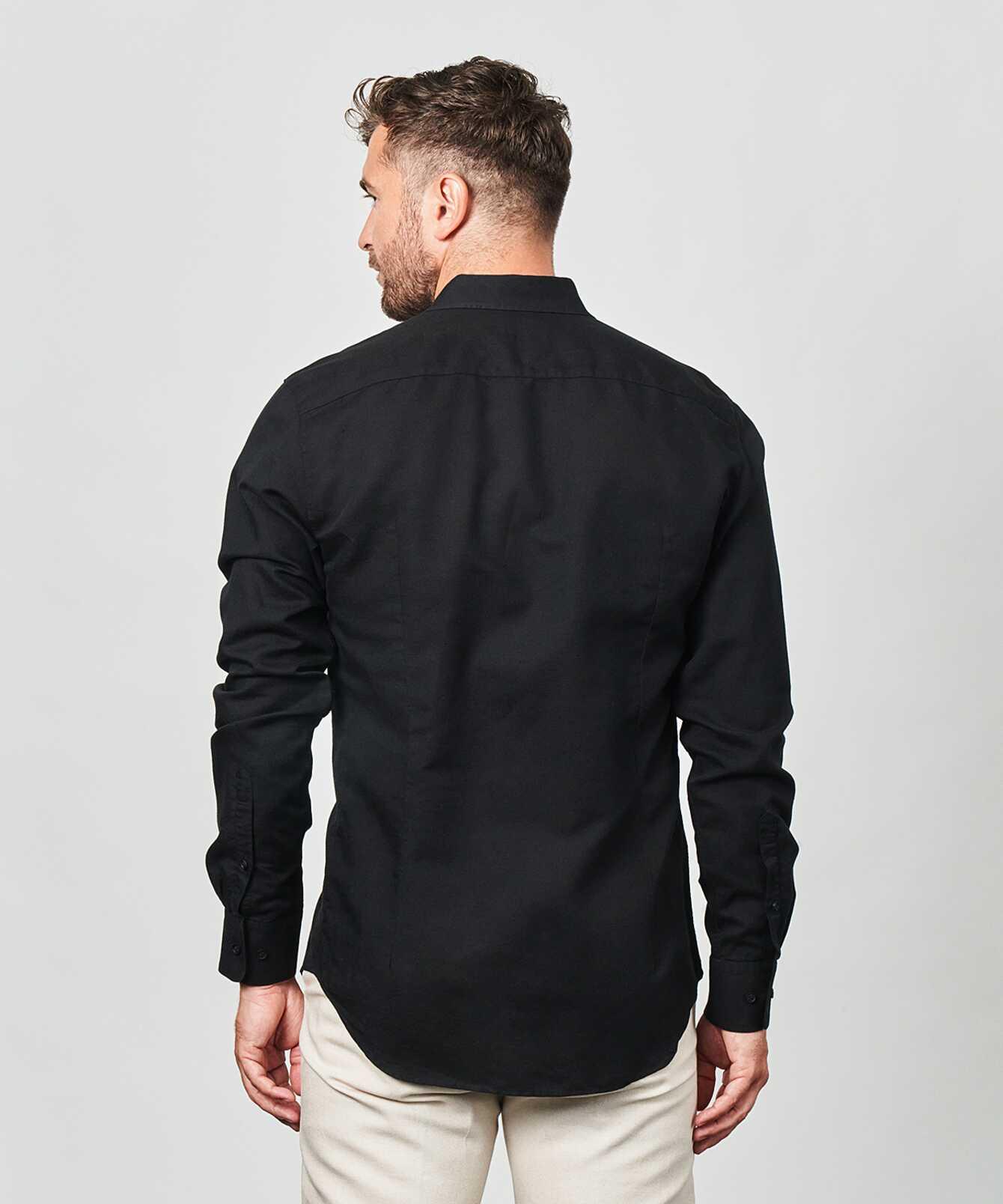 Shirt Portofino Linen Black  The Shirt Factory