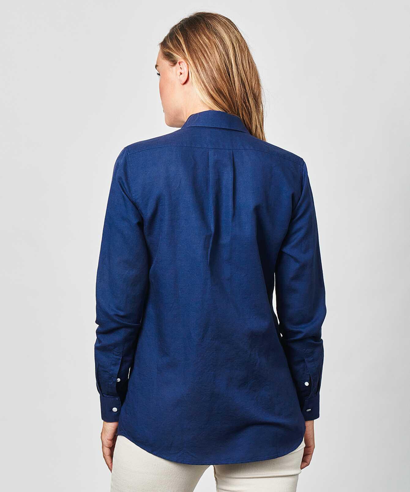 Shirt Mickan Portofino Blue The Shirt Factory