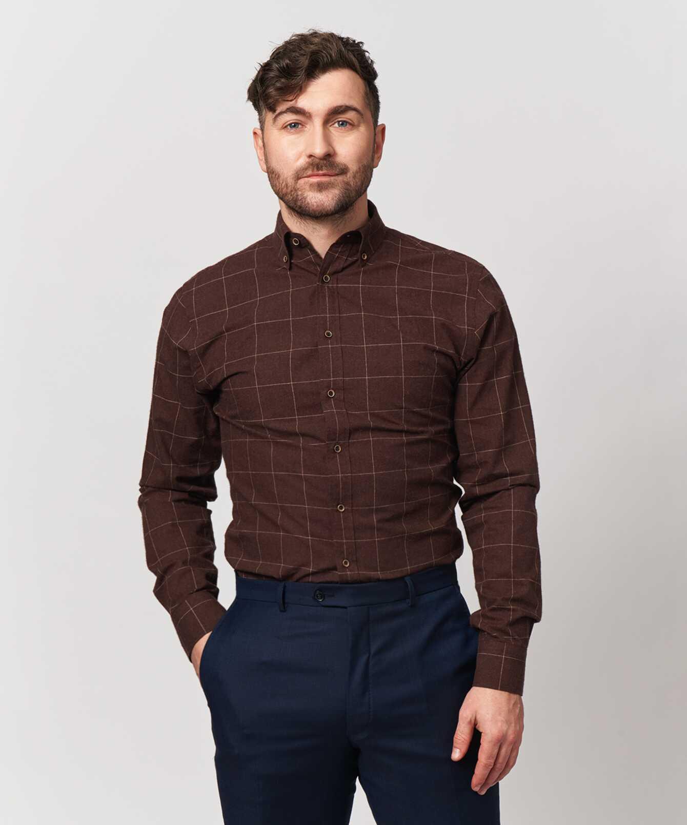 Shirt Treton Brun  The Shirt Factory