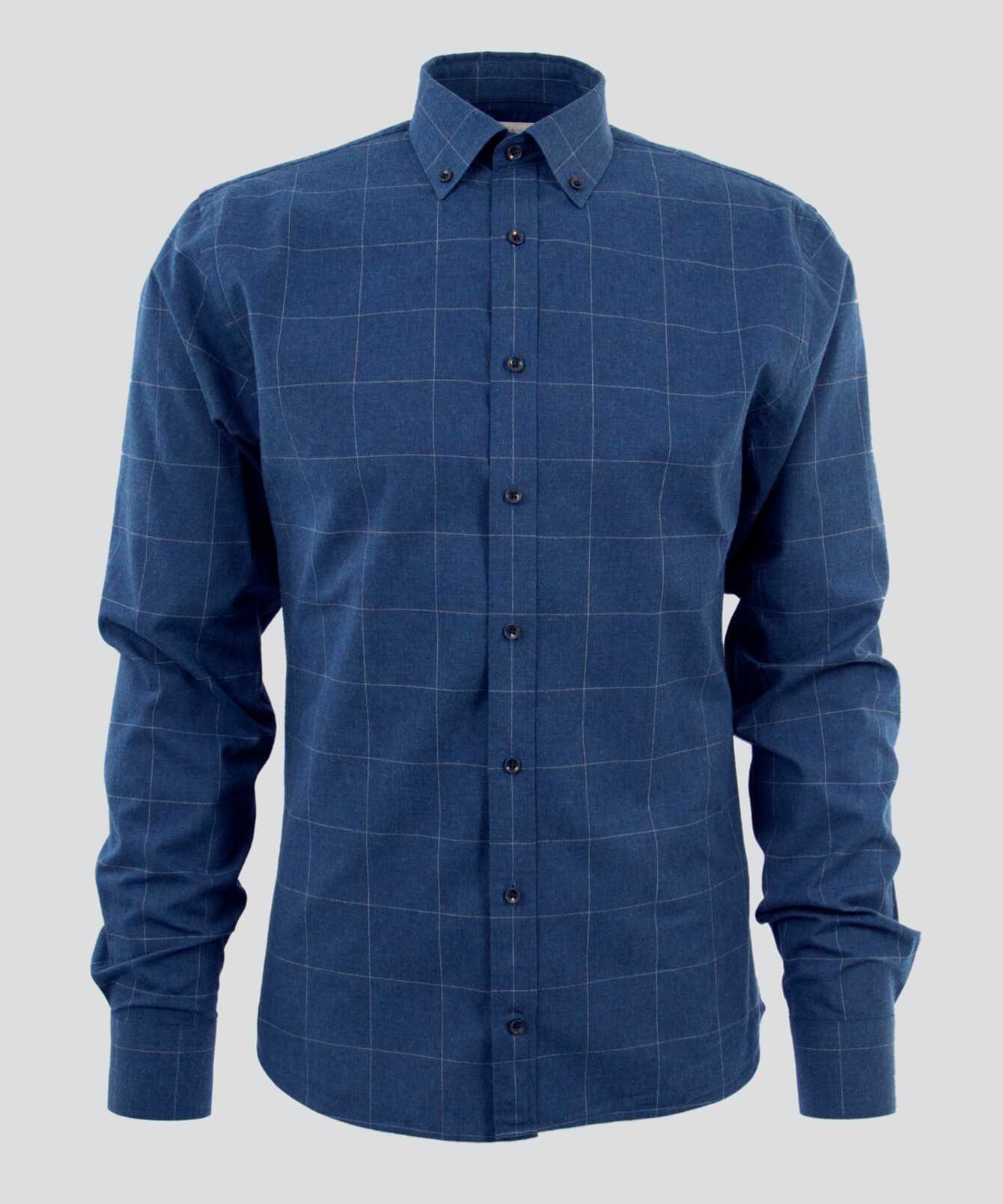 Skjorta Treton Blå  The Shirt Factory
