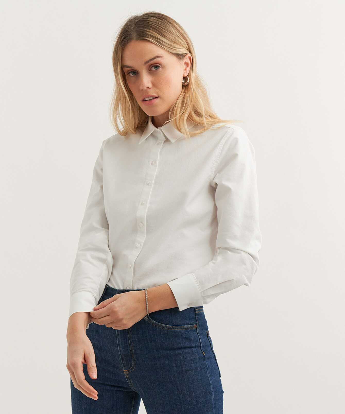 Skjorta Tilde Boston Oxford Vit The Shirt Factory