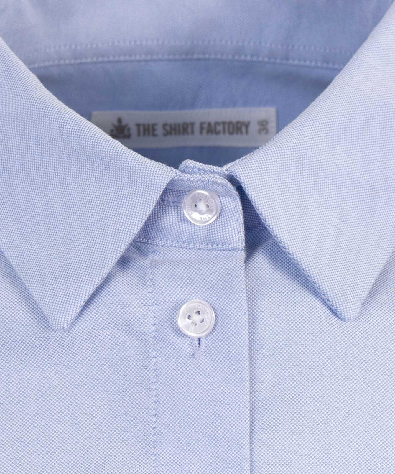 Skjorta Tilde Boston Oxford Ljusblå The Shirt Factory