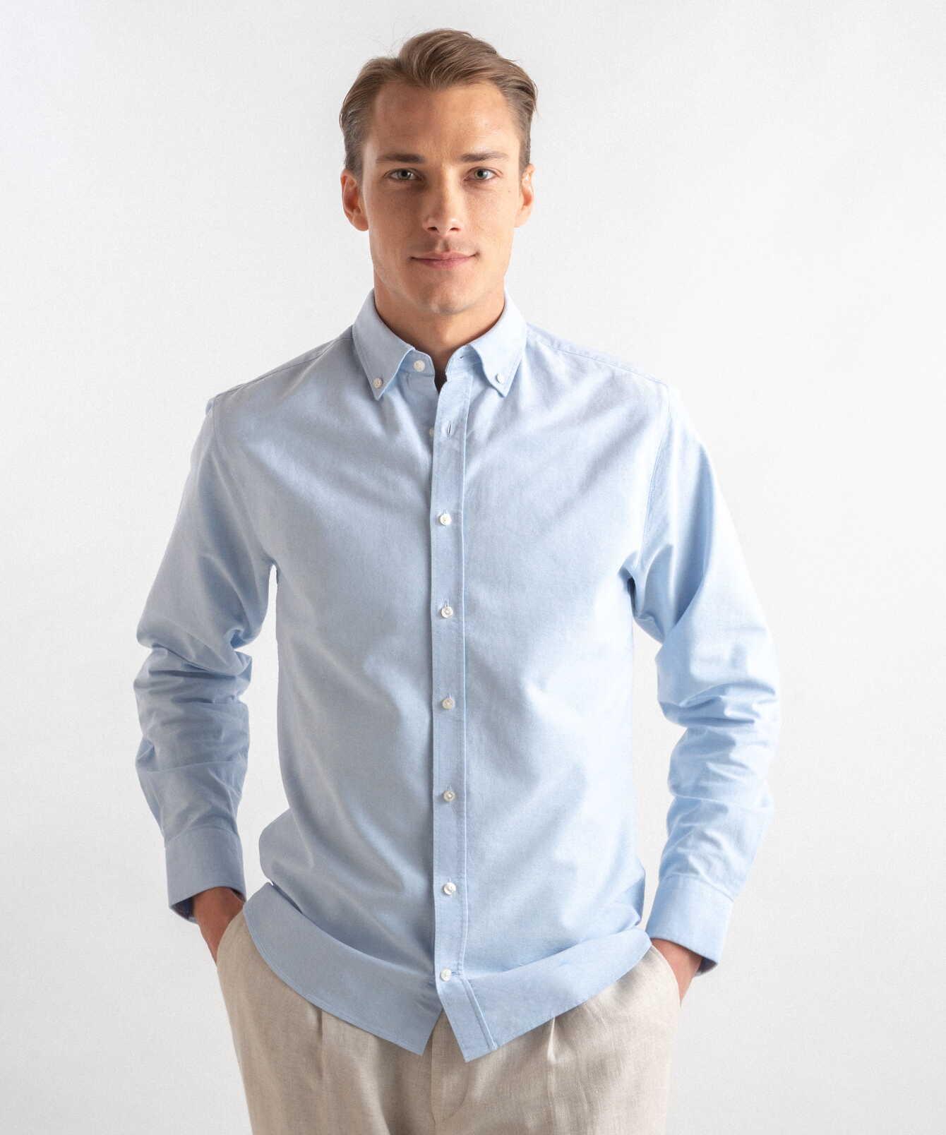 Skjorta Boston Oxford Ljusblå The Shirt Factory
