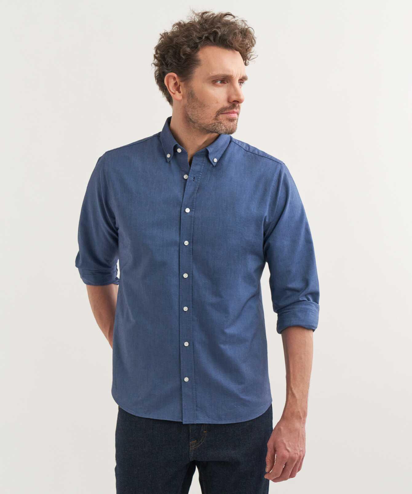 Skjorta Boston Oxford Havsblå The Shirt Factory