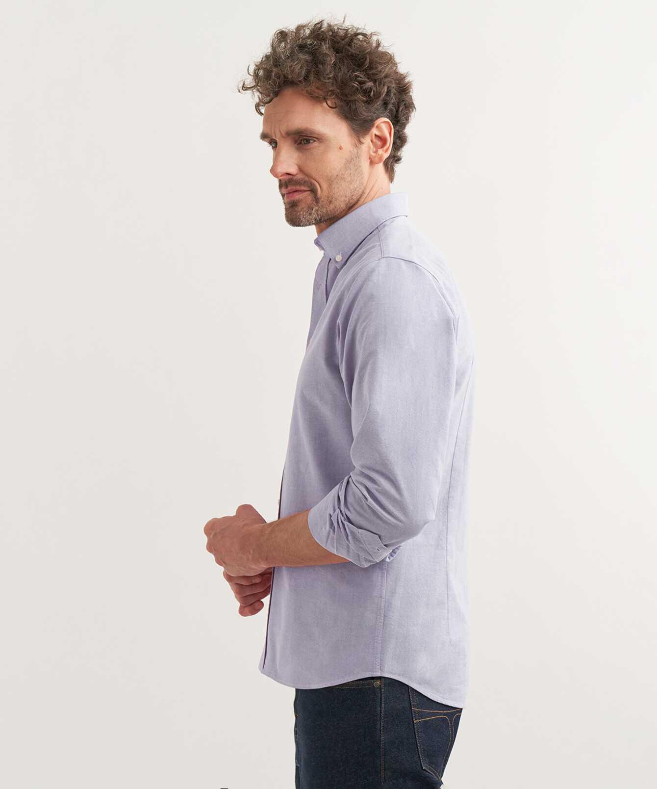 Shirt Boston Oxford Lila Extra Lång Ärm  The Shirt Factory