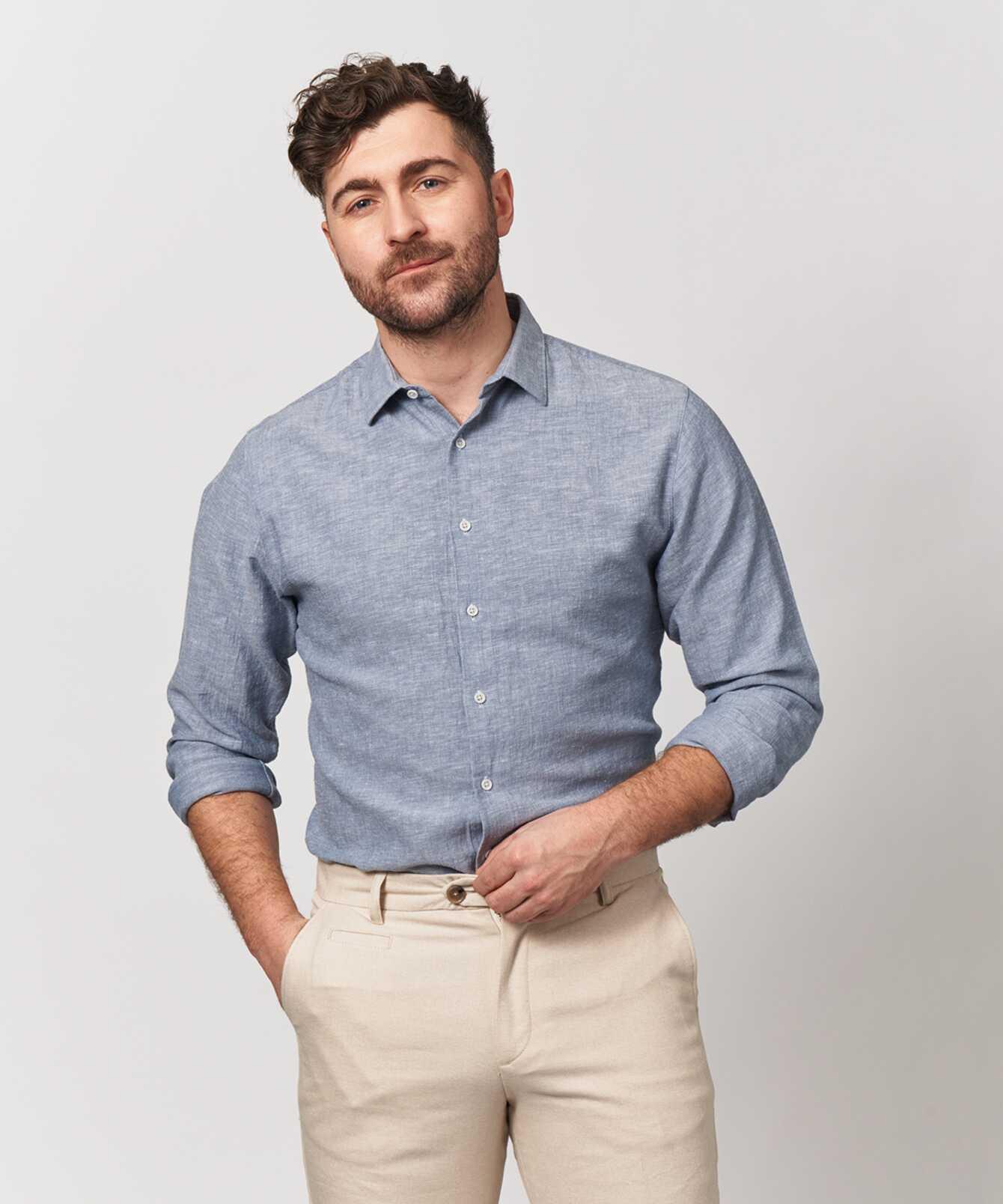 Skjorta Webster Blå The Shirt Factory
