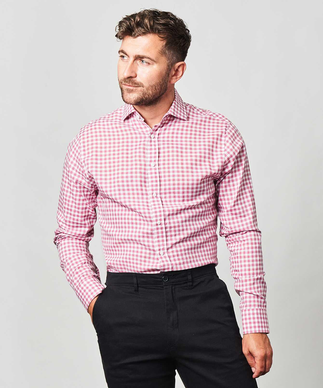 Skjorta Charleston Rosa The Shirt Factory