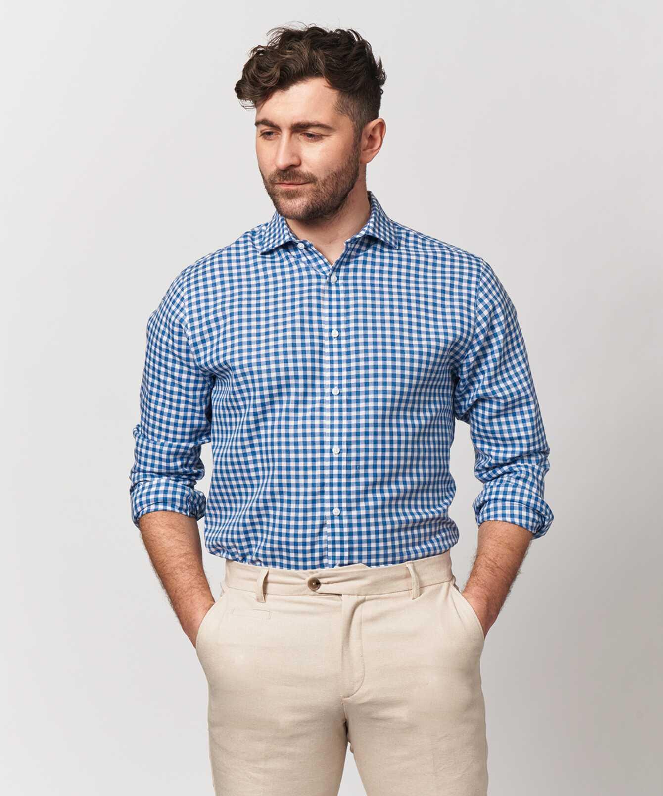 Skjorta Charleston Blå The Shirt Factory