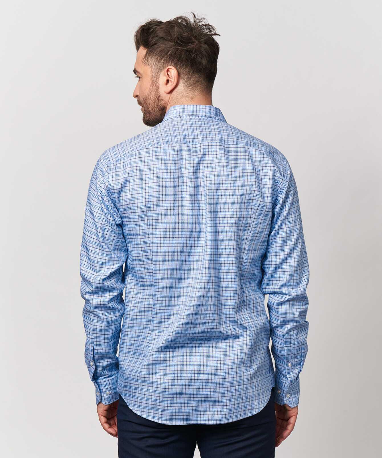 Shirt Wilson Blå Extra Lång Ärm The Shirt Factory
