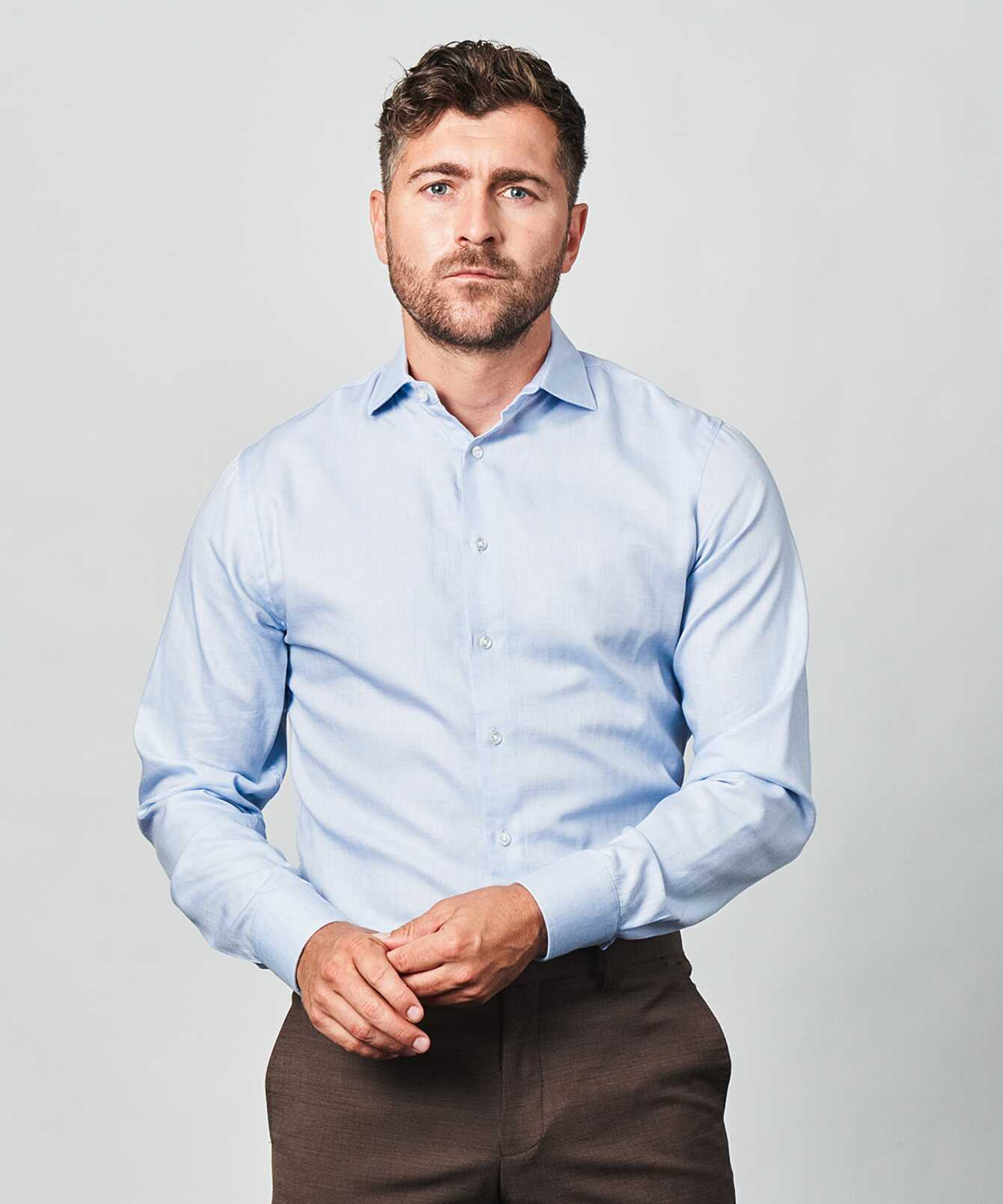 Skjorta Lewiston Blå The Shirt Factory