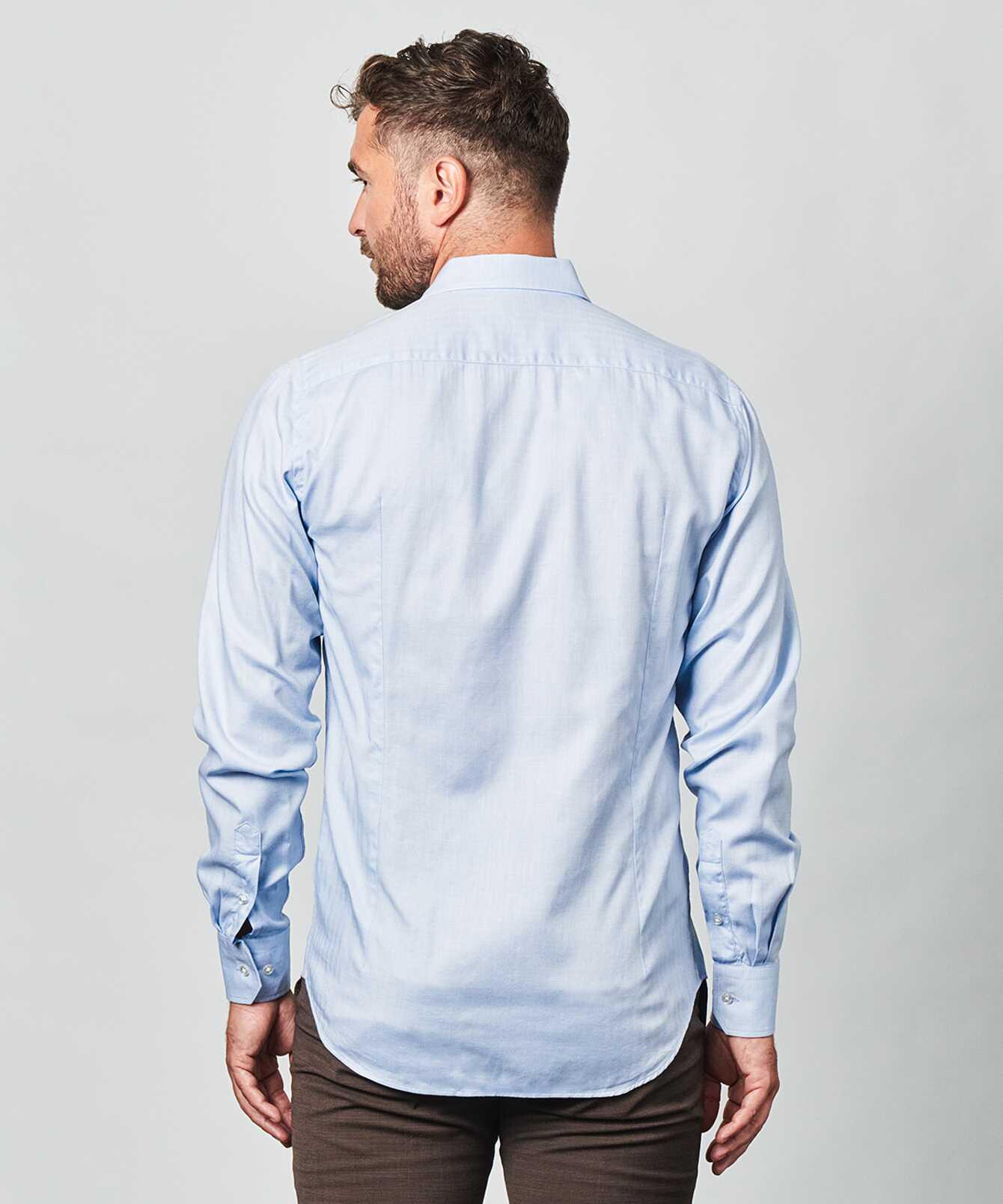Shirt Lewiston Blue Extra Long Sleeve The Shirt Factory